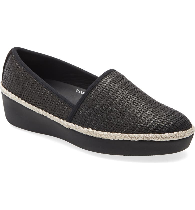 FITFLOP Casa Loafer, Main, color, BLACK/ BLACK FABRIC