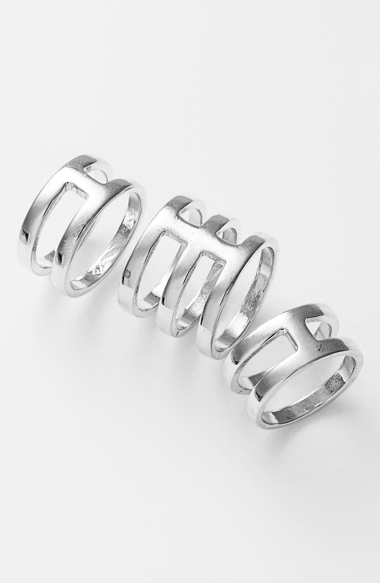 LEITH Cutout Statement Rings, Main, color, 040