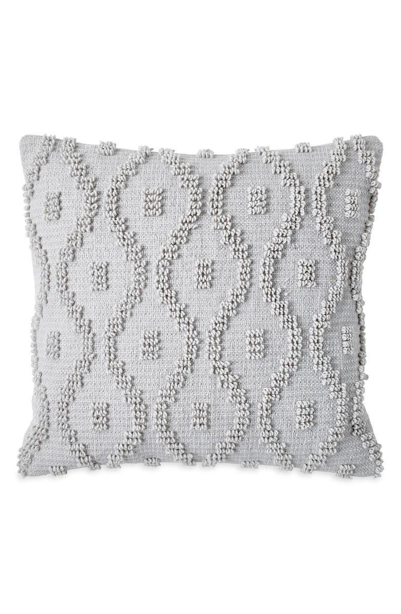 WELLBE Harmony Embroidered Scented Accent Pillow, Main, color, GREY