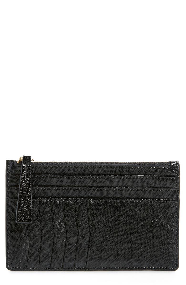 NORDSTROM Margaux Leather Passport & Card Case, Main, color, 001