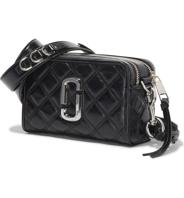 MARC JACOBS The Marc Jacobs The Softshot 21 Quilted Leather Crossbody Bag, Main, color, 007