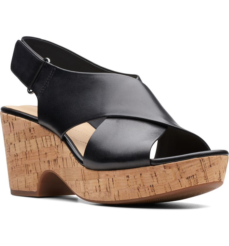 CLARKS<SUP>®</SUP> Maritsa Lara Slingback Sandal, Main, color, BLACK LEATHER