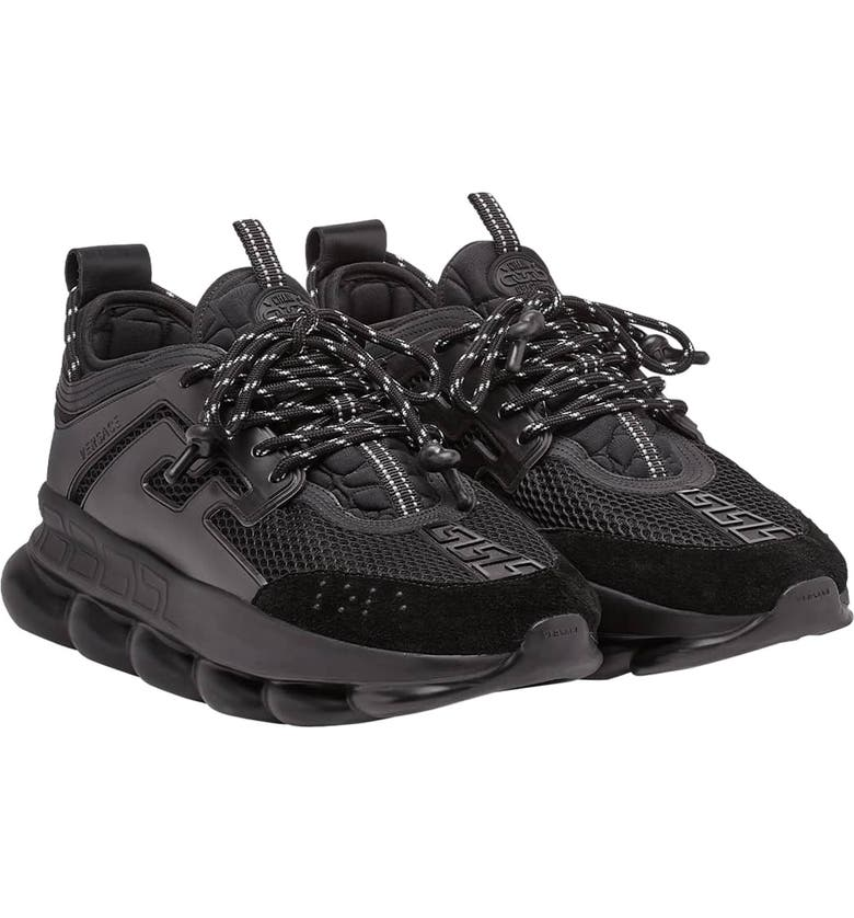 VERSACE Chain Reaction Sneaker, Main, color, NERO