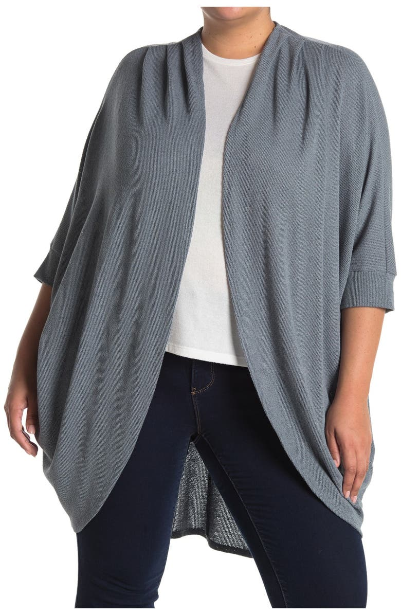 14TH AND UNION Lightweight Cocoon Cardigan, Main, color, GREY MONUMENT