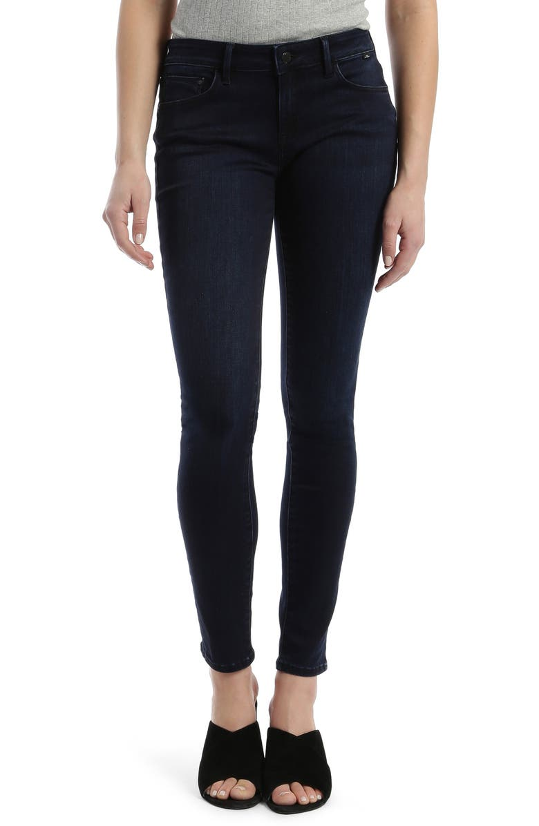 MAVI JEANS Alexa Supersoft Skinny Jeans, Main, color, DEEP MIDNIGHT SUPERSOFT