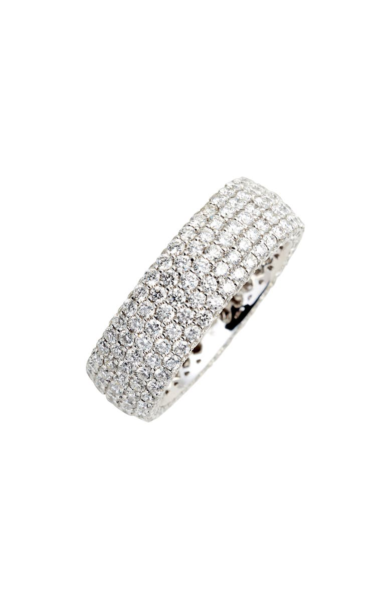 BONY LEVY Diamond Pavé Wide Eternity Ring, Main, color, WHITE GOLD/ DIAMOND
