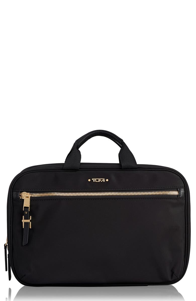 TUMI Voyageur Madina Nylon Cosmetics Case, Main, color, BLACK
