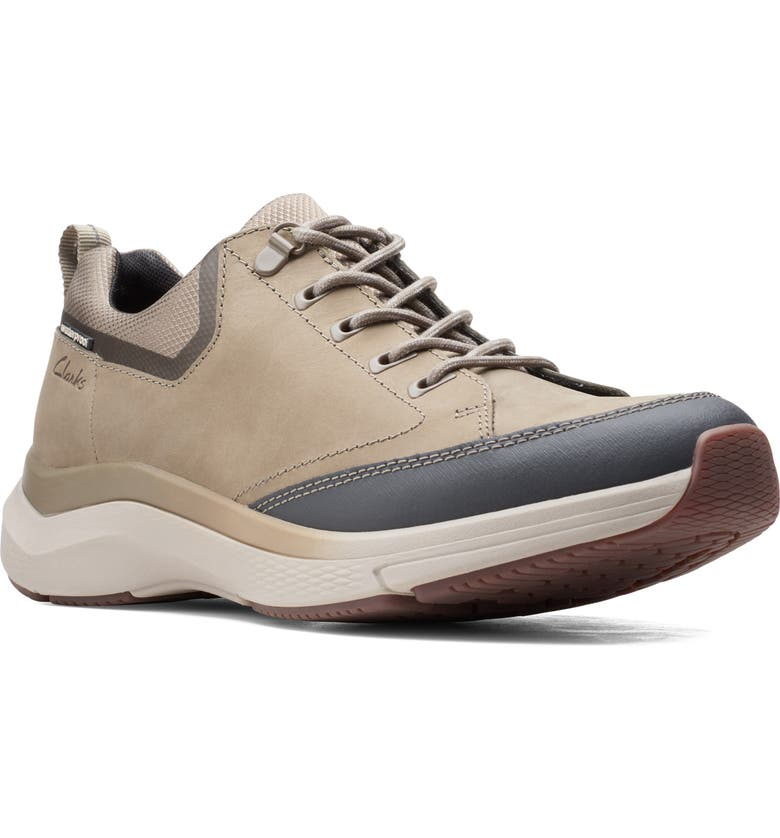 CLARKS<SUP>®</SUP> Wave 2.0 Vibe Sneaker, Main, color, BEIGE TUMBLED LEATHER