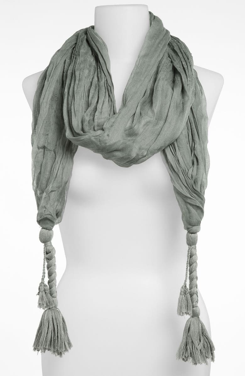 REMI & REID Tassel Scarf, Main, color, 020