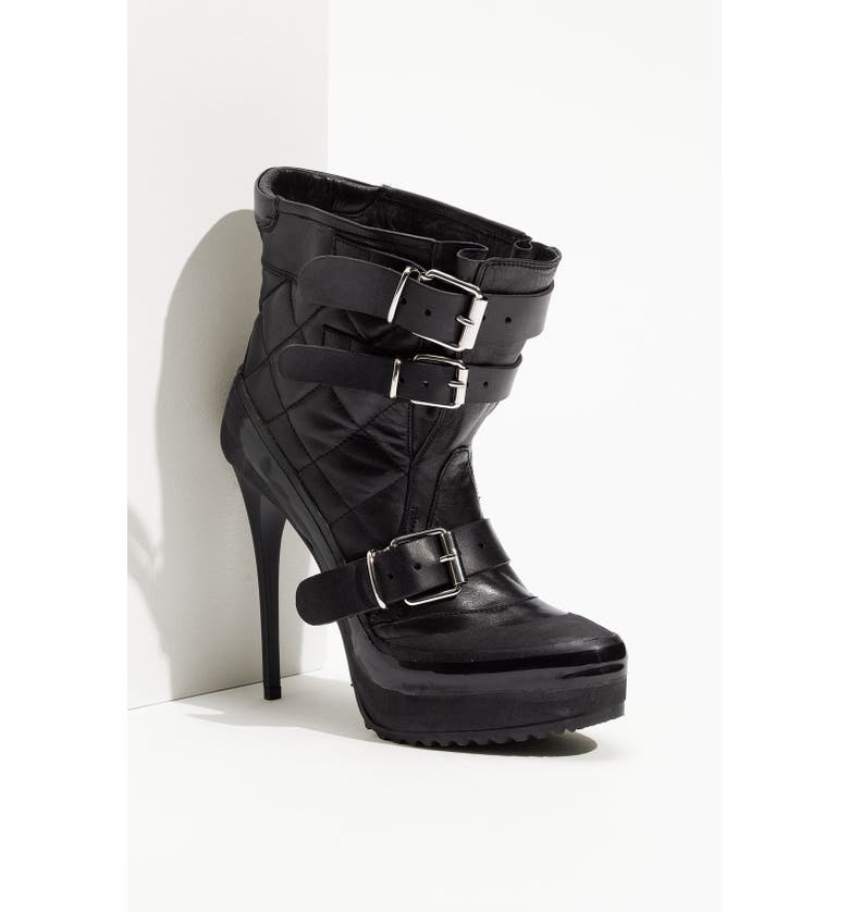 BURBERRY Quilted Bootie, Main, color, 001