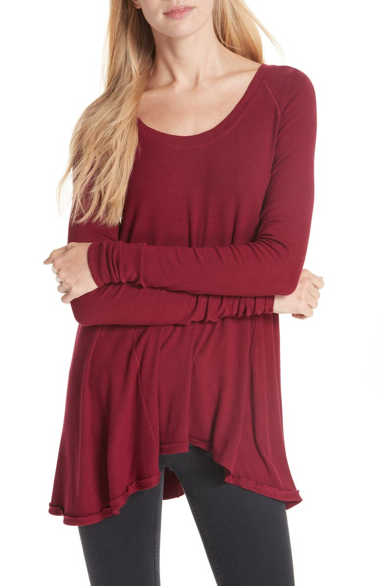FREE PEOPLE We the Free by Free People January Tee, Main, color, WINE