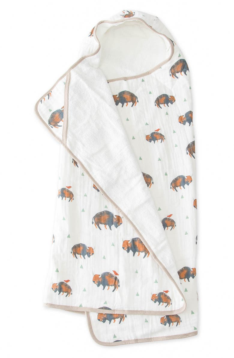 LITTLE UNICORN Hooded Towel, Main, color, BISON