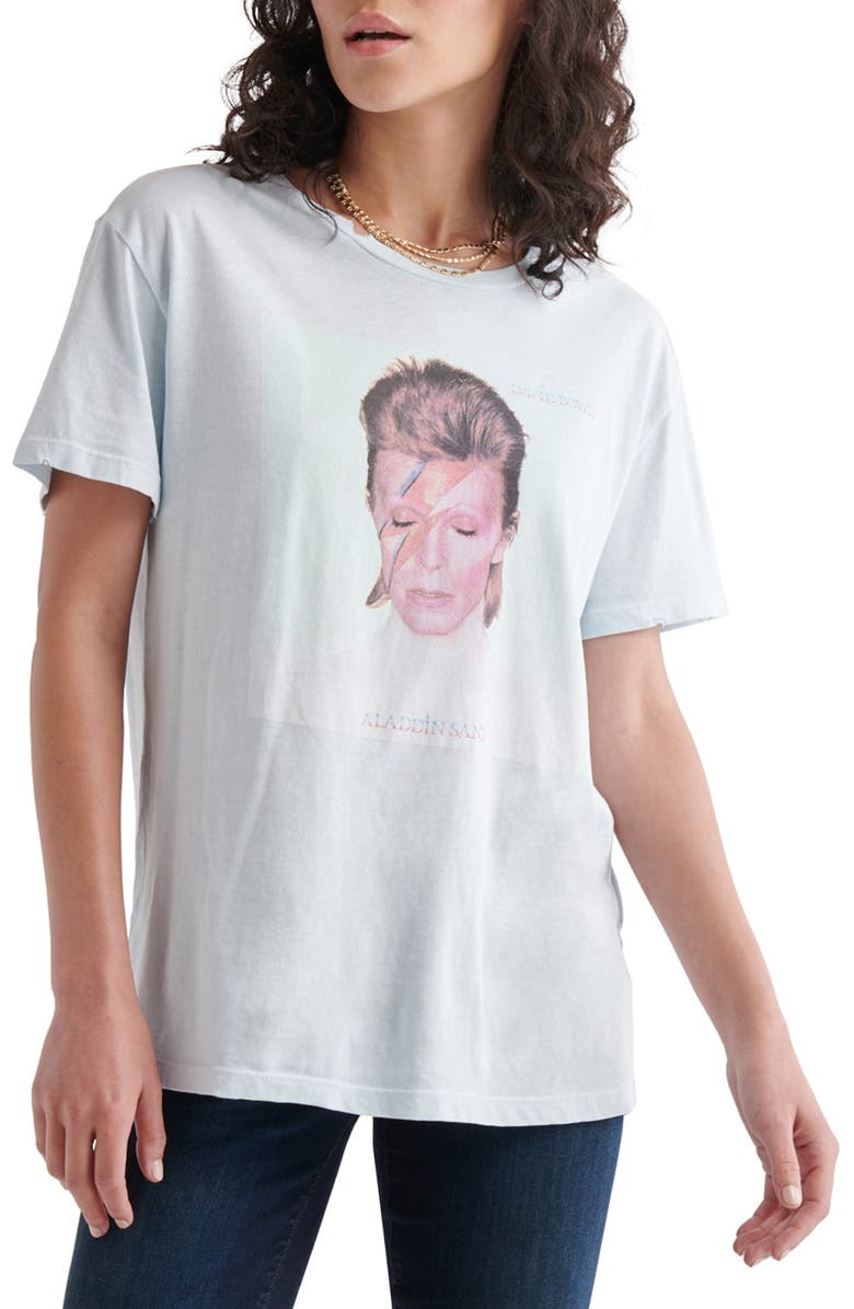 LUCKY BRAND David Bowie Graphic Tee, Main, color, BALLAD BLUE
