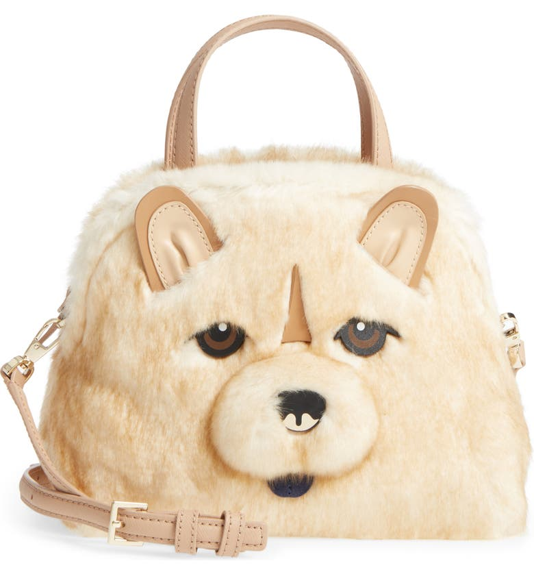 KATE SPADE NEW YORK year of the dog chow chow – lottie satchel, Main, color, 250
