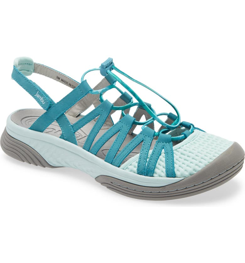 JAMBU Water Diva Encore Sandal, Main, color, MINT/ DARK TURQUOISE NUBUCK