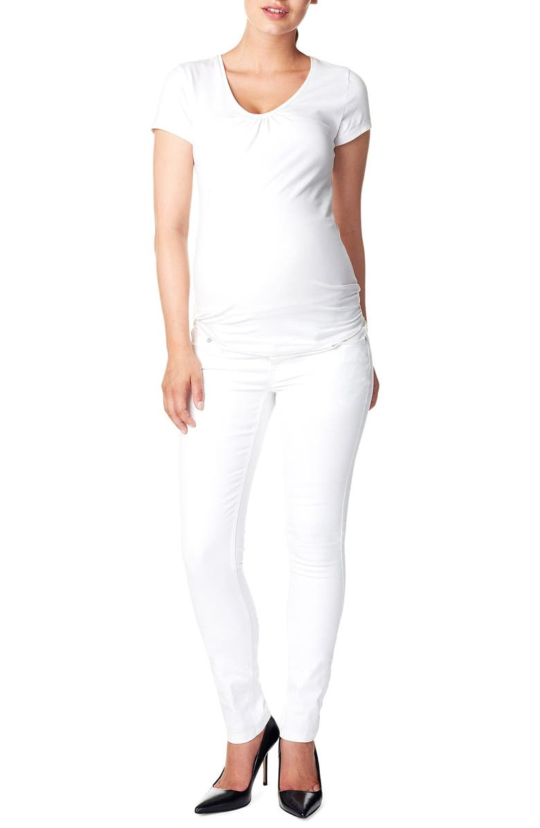 NOPPIES 'Leah' Over the Belly Slim Maternity Jeans, Main, color, 100