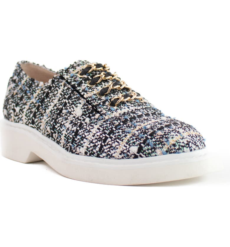 CECELIA NEW YORK Randi Platform Oxford, Main, color, PEARL TWEED FABRIC