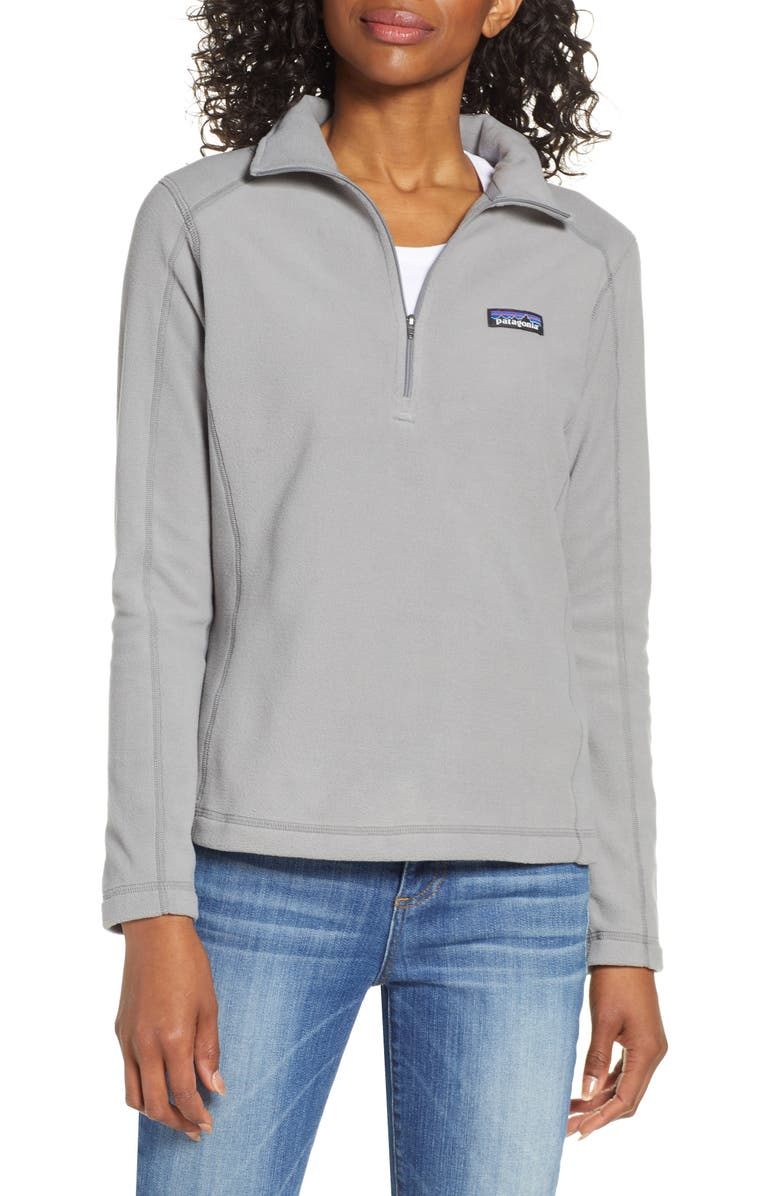 PATAGONIA Micro D<sup>®</sup> Quarter-Zip Fleece Pullover, Main, color, FEATHER GREY