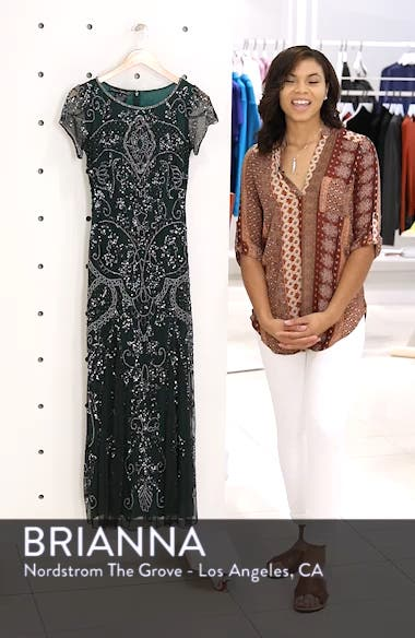 Embellished Mesh Gown, sales video thumbnail