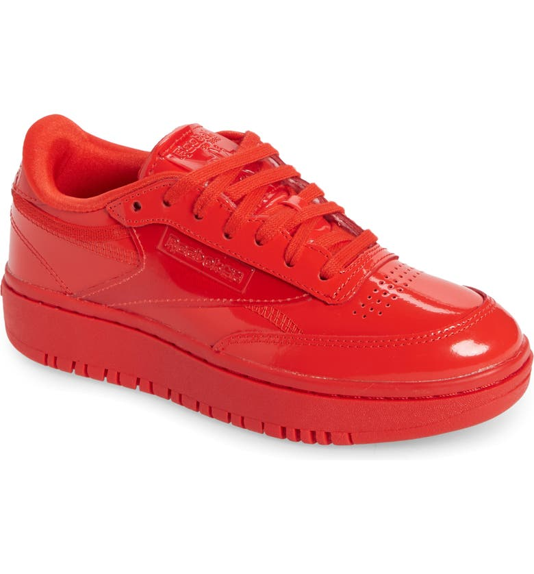 REEBOK Club C Double Platform Sneaker, Main, color, INSTINCT RED/ RED/ RED
