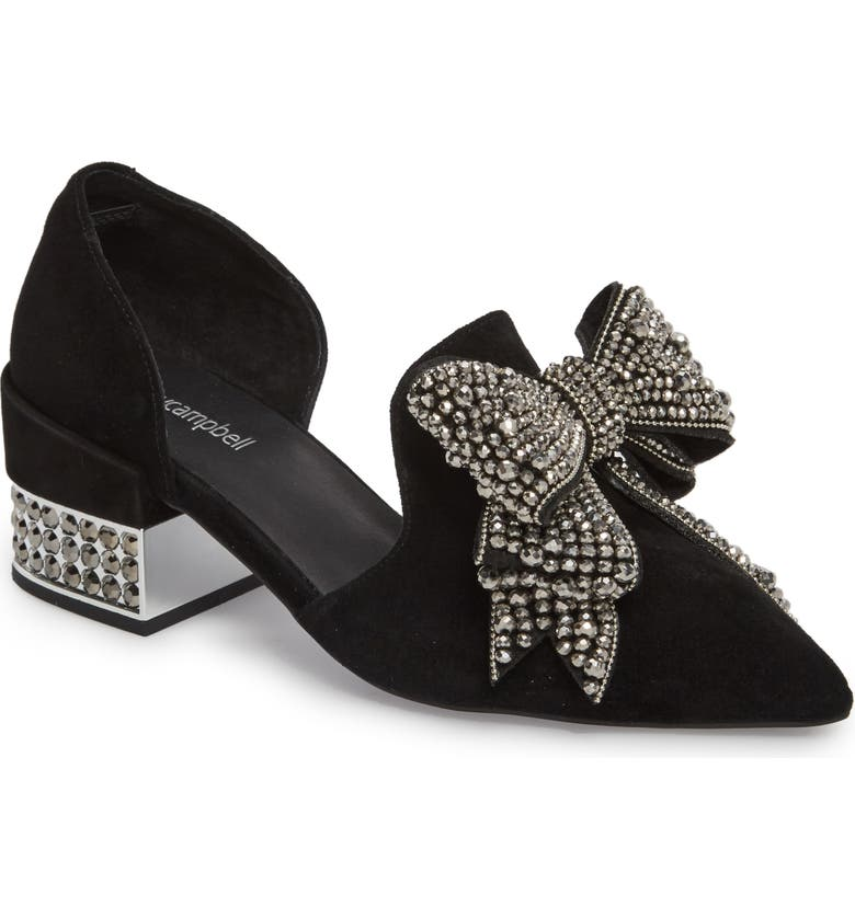 JEFFREY CAMPBELL Valenti Embellished Bow Loafer, Main, color, 001