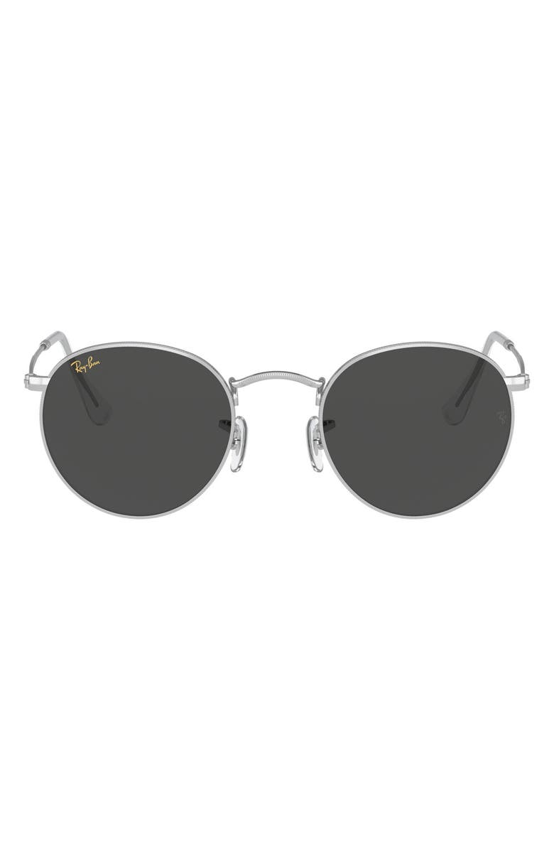 RAY-BAN Icons 53mm Retro Sunglasses, Main, color, GOLD LEO/ DARK GREY