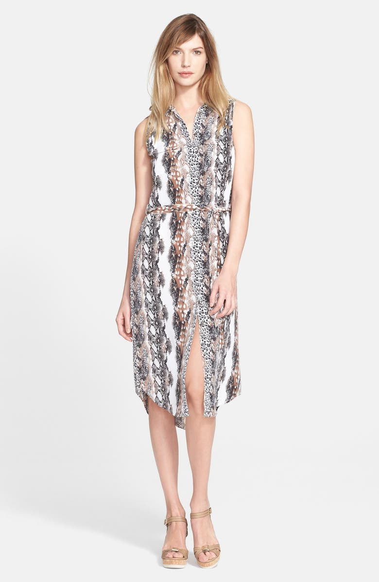 EQUIPMENT 'Teagan' Print Silk Dress, Main, color, 118