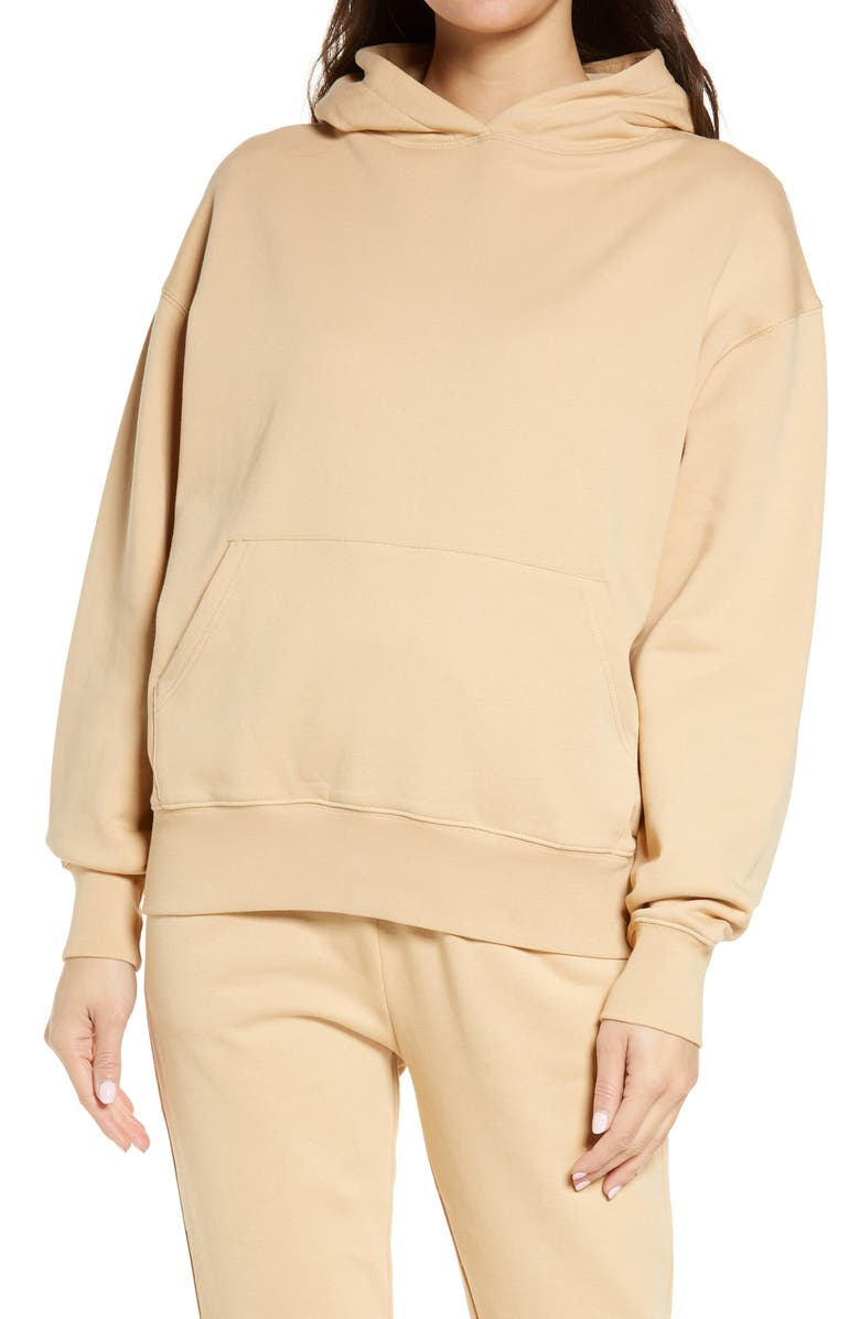 WE WORE WHAT Oversized Hoodie, Main, color, TAN