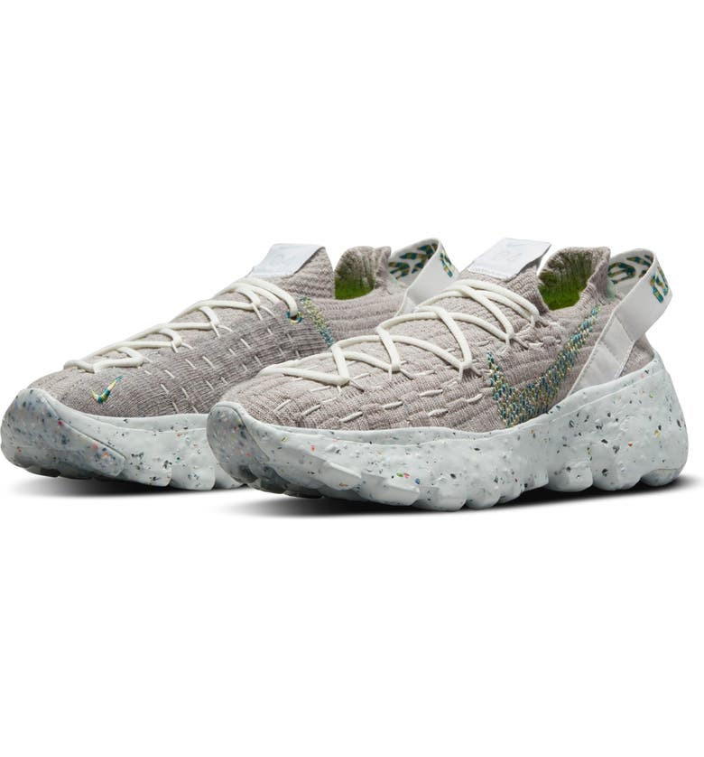NIKE Space Hippie 04 Sneaker, Main, color, WHITE/ MEAN GREEN/ PHOTON DUST