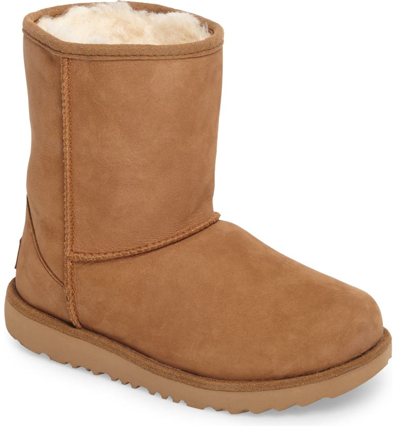 UGG<SUP>®</SUP> Classic Short II Waterproof Boot, Main, color, CHESTNUT