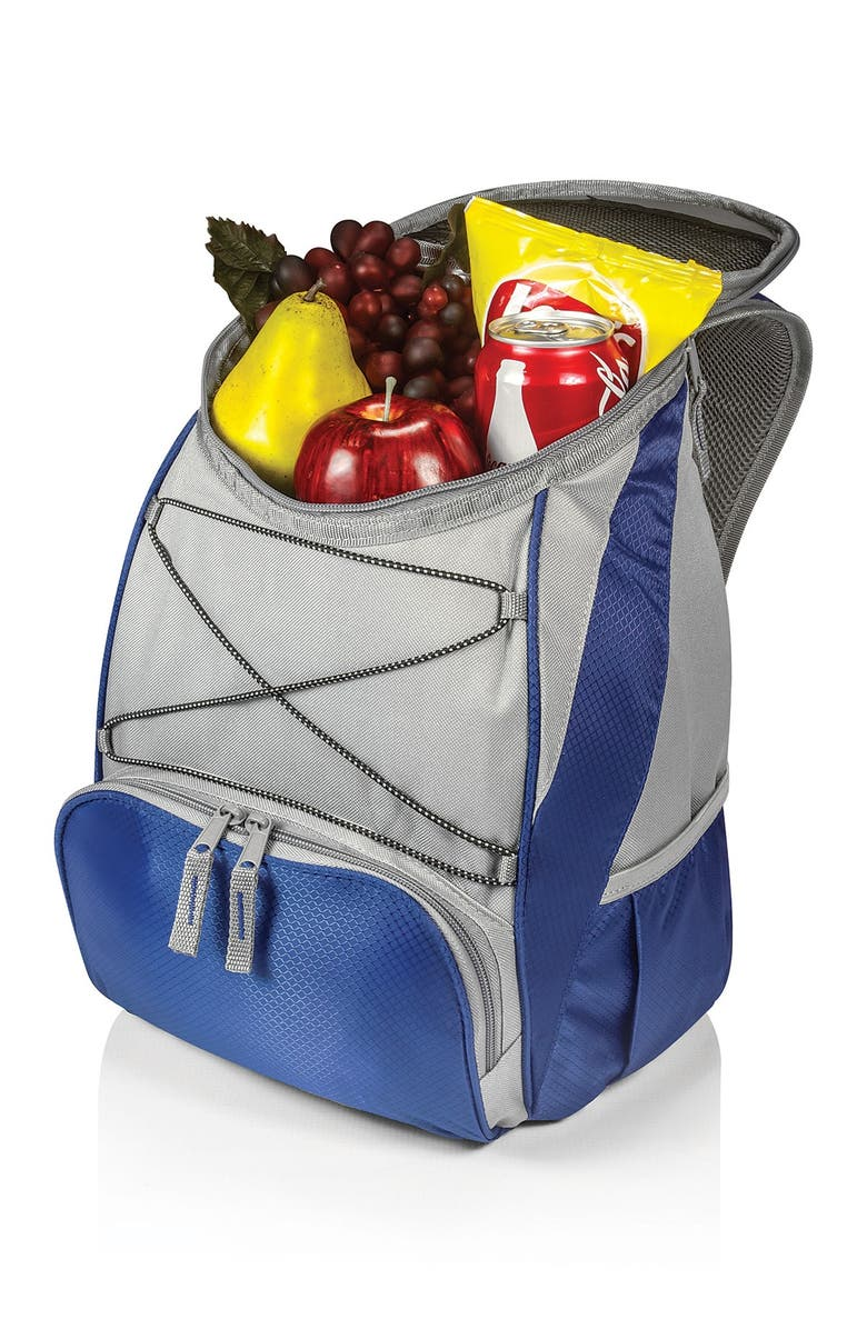 PICNIC TIME 'PTX' Cooler Backpack - Navy with Grey, Main, color, NAVY