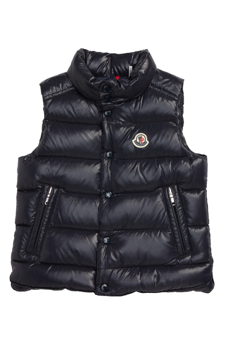MONCLER Tib Water Resistant Down Puffer Vest, Main, color, NAVY