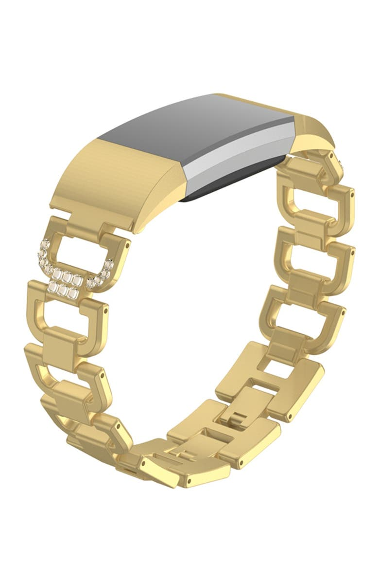 POSH TECH Small Alloy Band with Rhinestones for Fitbit Charge 2 - Gold, Main, color, GOLD