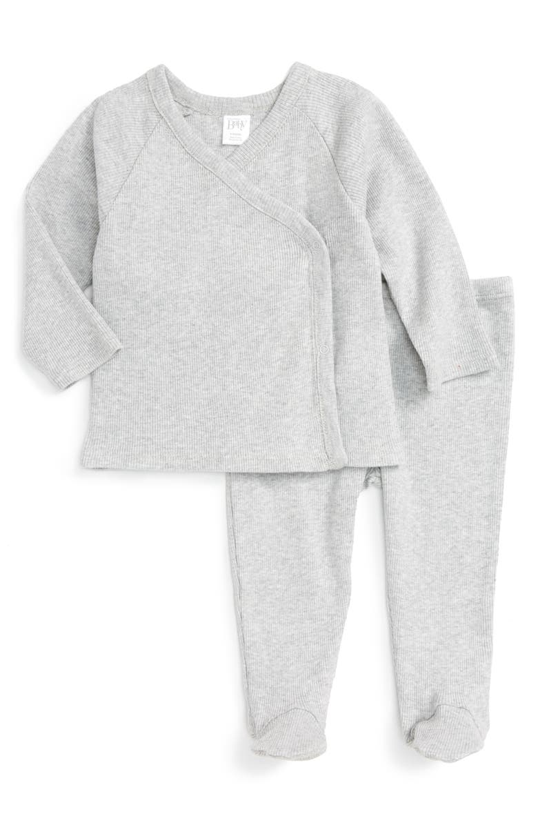 NORDSTROM BABY Rib Knit T-Shirt & Pants Set, Main, color, 050