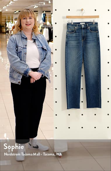 Sabine High Waist Straight Leg Ankle Jeans, sales video thumbnail