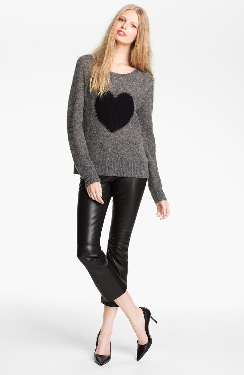 ELIZABETH AND JAMES Intarsia Knit Sweater, Main, color, 011