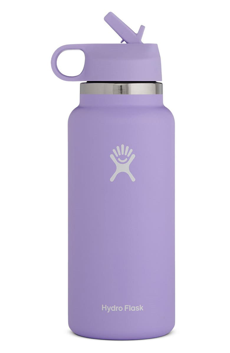 HYDRO FLASK 32-Ounce Wide Mouth Bottle with Straw Lid, Main, color, 500