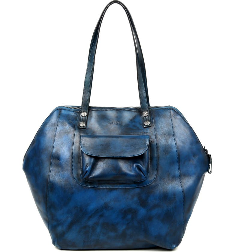 OLD TREND Clam Bay Leather Tote Bag, Main, color, NAVY