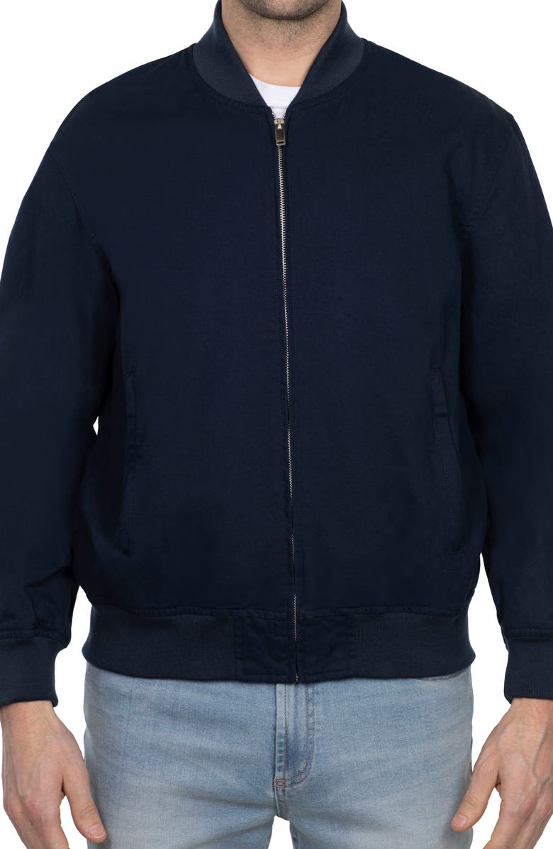 SLATE AND STONE Solid Bomber Jacket, Main, color, DARK NAVY
