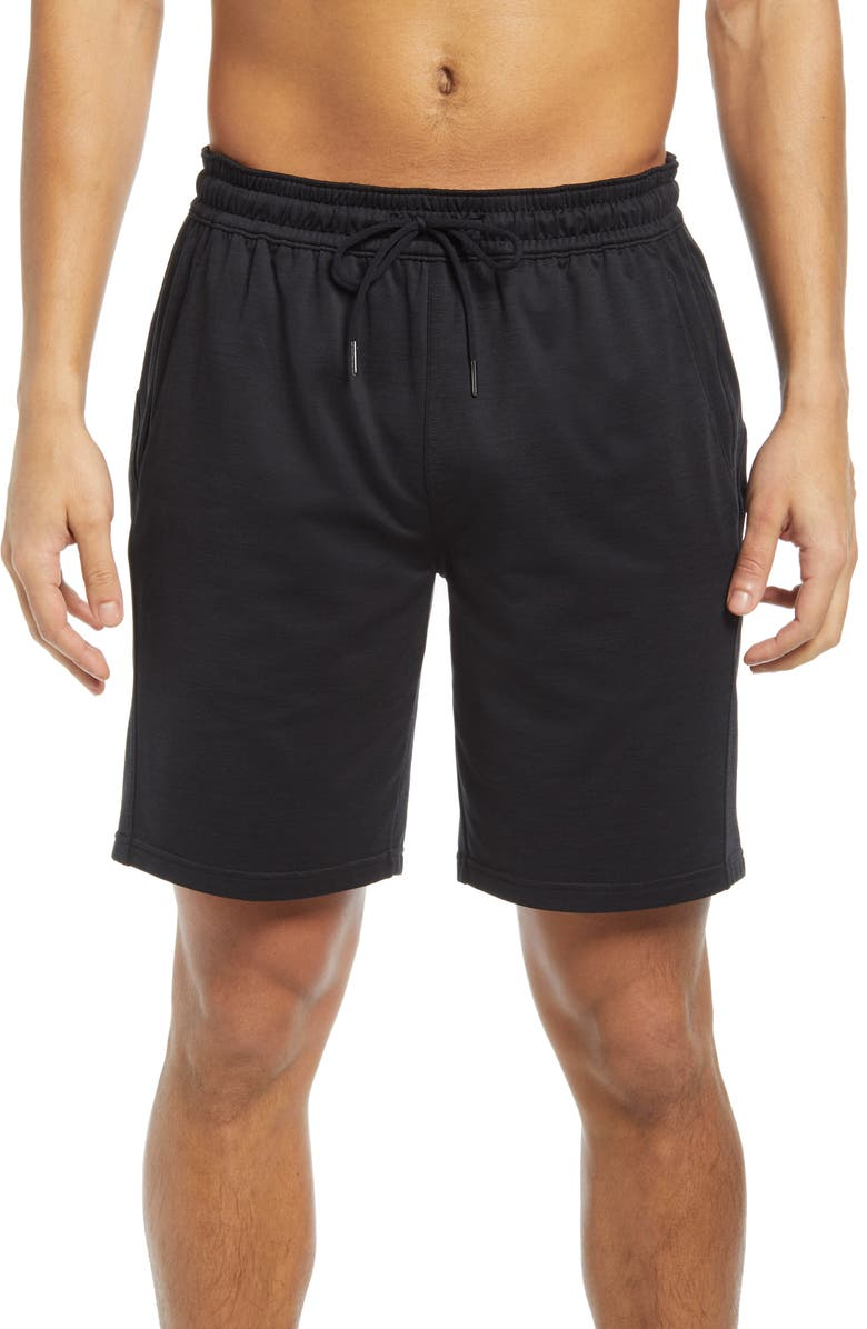 ZELLA Pyrite Knit Shorts, Main, color, BLACK