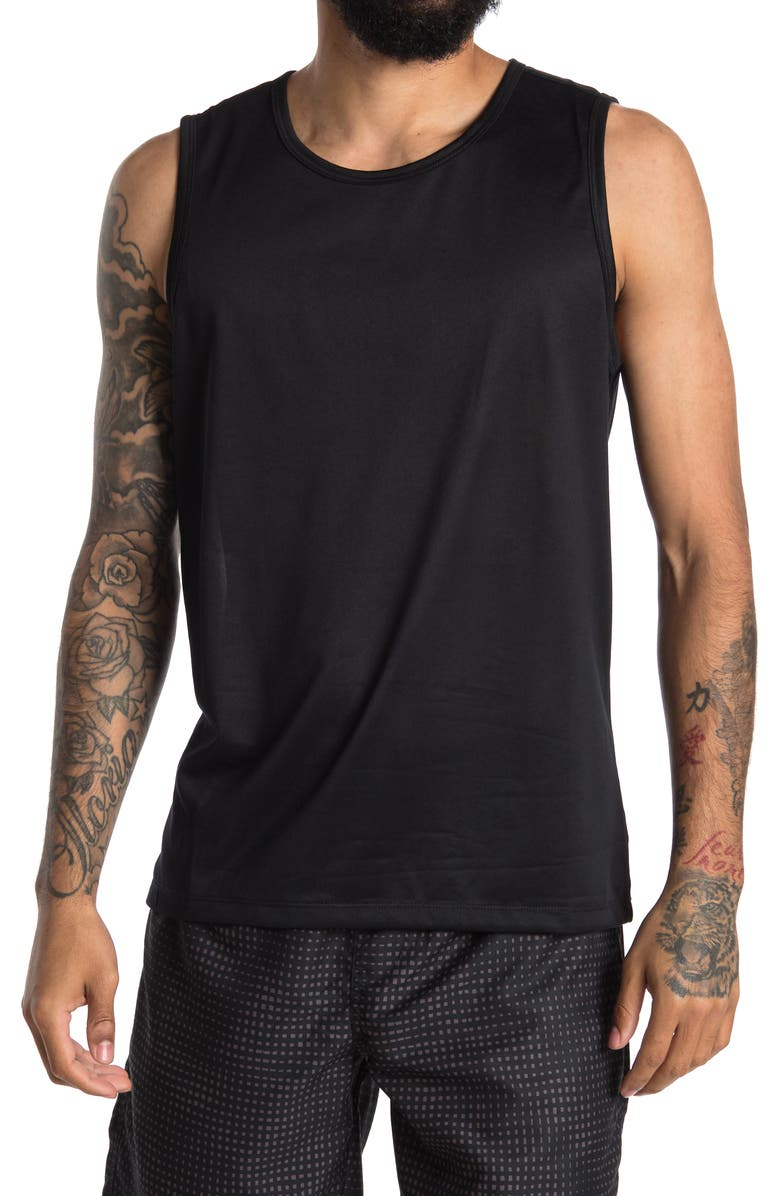 Z BY ZELLA Apex Performance Muscle Tank, Main, color, BLACK