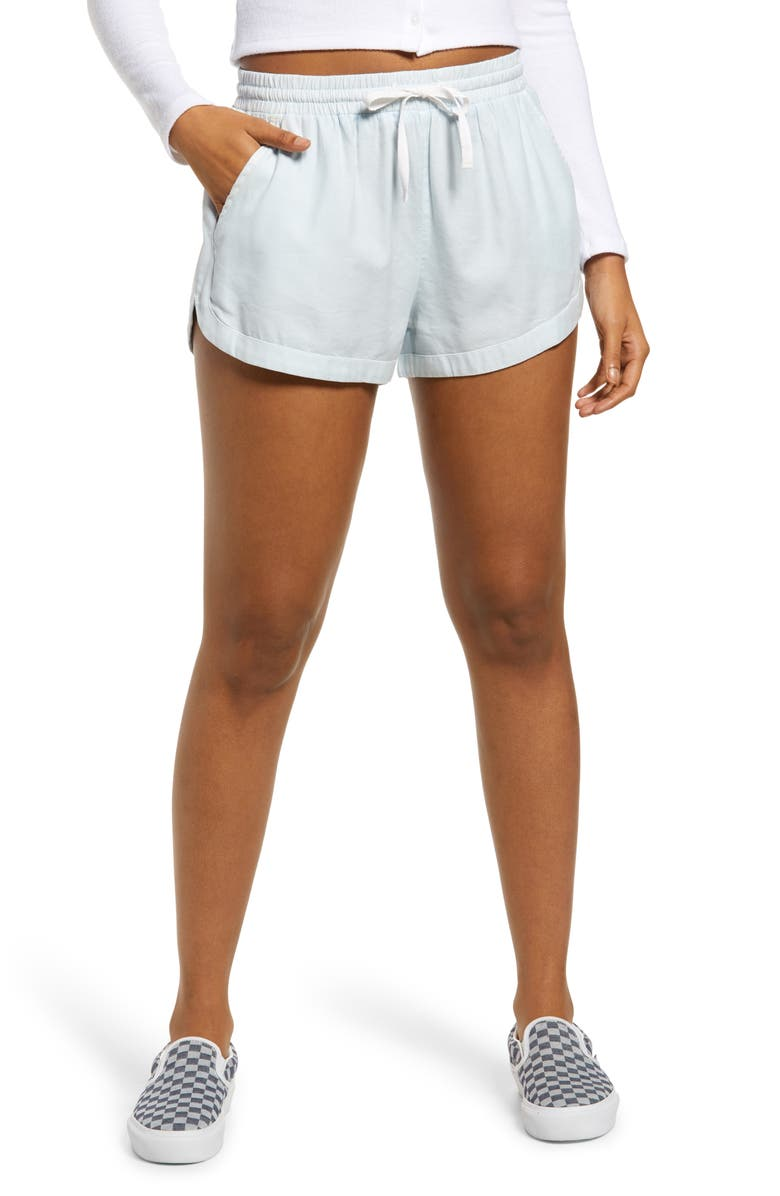BILLABONG 'Road Trippin' Shorts, Main, color, LIGHT CHAMBRAY