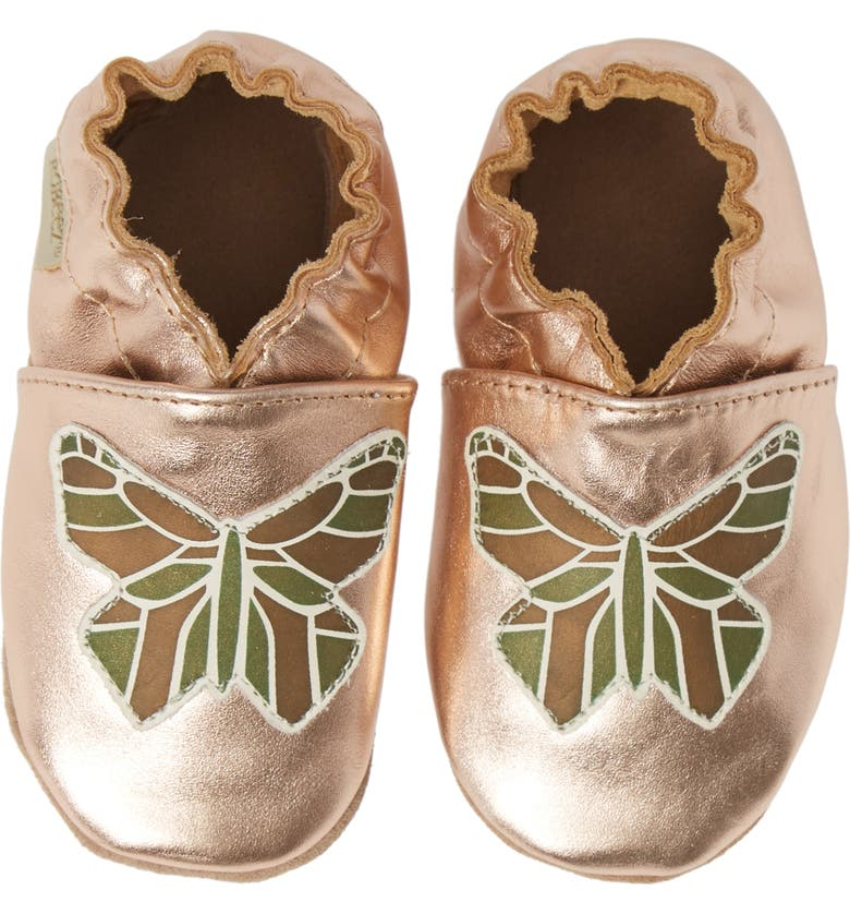 ROBEEZ<SUP>®</SUP> Ava Rose Moccasin Crib Shoe, Main, color, 228