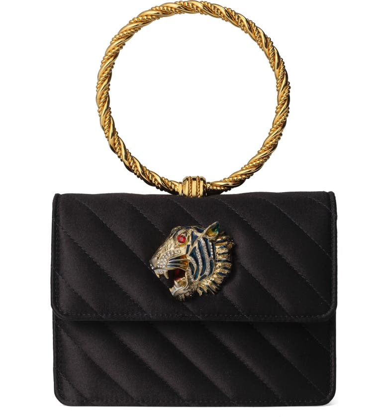 GUCCI Broadway Quilted Ring Top Handle Bag, Main, color, 001