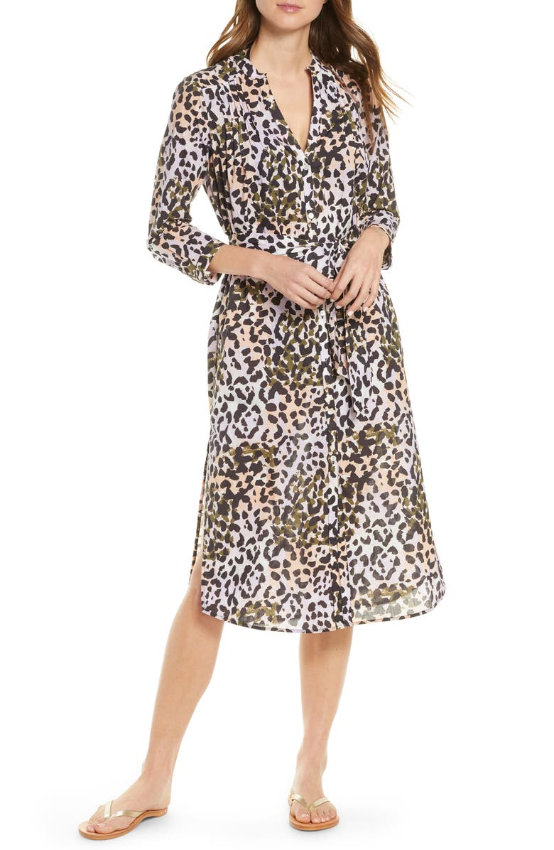 VERONICA BEARD Odette Cover-Up Shirtdress, Main, color, 500