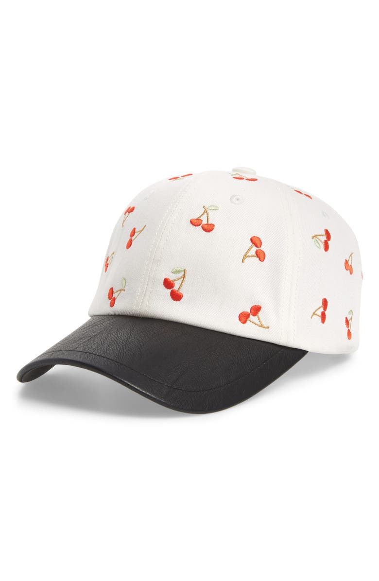 SWEAT ACTIVE Embroidered Cherries Baseball Cap, Main, color, 900