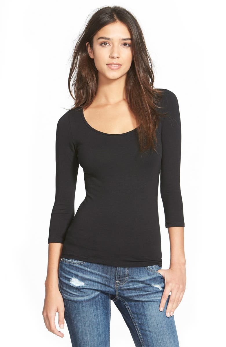 FRENCHI <sup>®</sup> Scoop Neck Tee, Main, color, 001