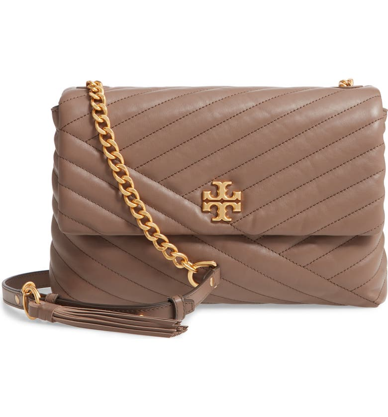 TORY BURCH Kira Chevron Quilted Leather Shoulder Bag, Main, color, 200