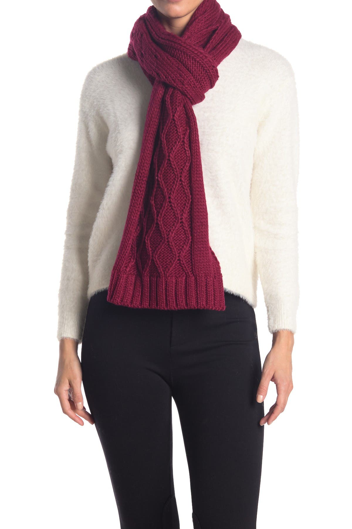 Chunky Cable Knit Scarf   Nordstromrack