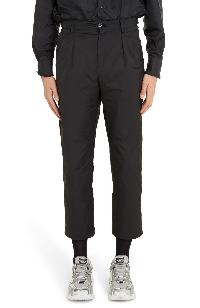 VALENTINO '90s Fit Cropped Pants, Main, color, 001
